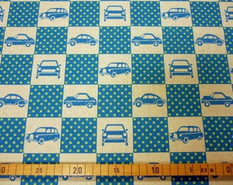 Echino fabric blue colour 110cm x 65cm