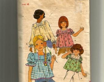 Butterick Girls' Top Pattern 4143