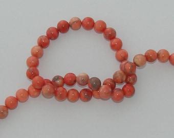 Orange 10 diameter 8mm natural howlite beads