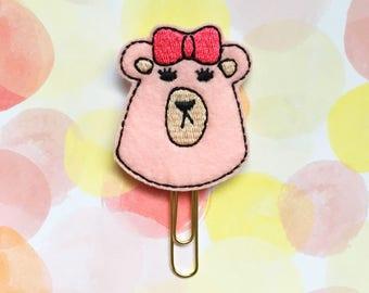 Jezabelle Planner Clip, Grumpy Bear Sticker Co