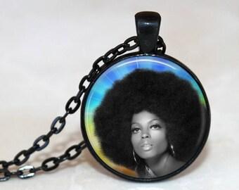 DIANA ROSS Pendant / Diana Ross Necklace / Diana Ross / Motown / Supremes / Diana Ross Afro Pendant