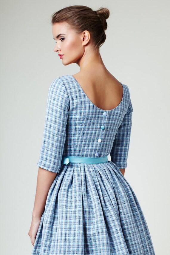 Wedding guest dress 1950s dress 50s dress Blue wedding dress