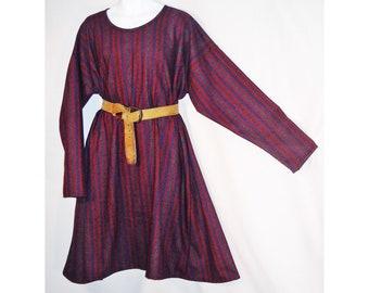 Sz 2x Medieval Striped Wool Blend Norman, Saxon, or Viking Tunic  SCA, LARP
