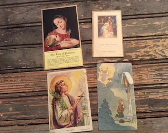 Vintage Religious Prayer Cards - Catholic Collectible Cards - Religious - Ephemera