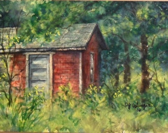 Deep in the Woods, Original Watercolor Painting