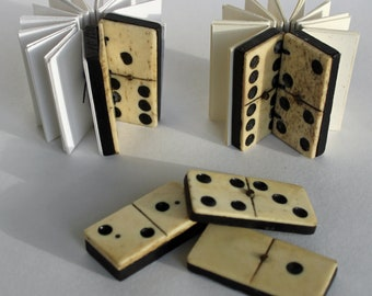 Vintage mini, coptic bound domino books