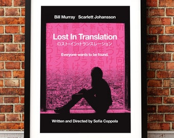 Lost In Translation poster, Lost In Translation , film poster, Scarlett Johansson, Lost In Translation print, Sofia Coppola, Bill Murray