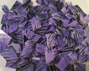 Mosaic Tiles PURPLE BLACK Glass Mosaic Tile Mosaic Supplies Mosaic Pieces Stained Glass