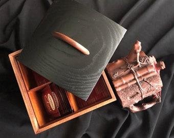 wood tea box