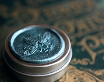 GreenWitch Solid Natural Perfume, Luxury in a Round Tin - Devoted to Tethys the Greek aquatic sea goddess - Emerald green notes for Spring