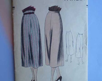 Vintage 40s Vogue Classic Skirt Pattern 30 Waist 39 Hip