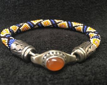 Bracelet ~ Peyote Stich Beadwork ~ Artist: John Binzley