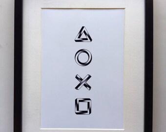 PlayStation Symbols Print