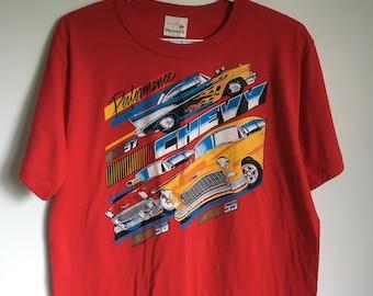 """Vintage """"Performance Chevy"""" Men's L T-Shirt - 1987"""