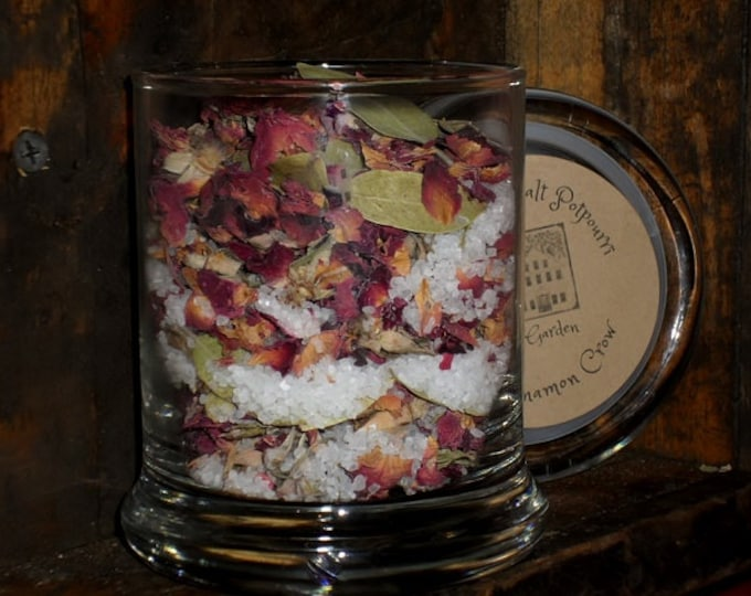 Featured listing image: Rose Garden sea salt jar potpourri