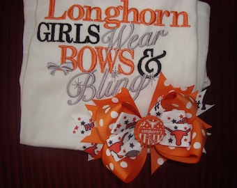 Texas Longhorn shirt and bow