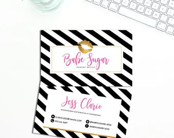 Lipsense Business Cards , Gold Lips Cards , Beauty Business Cards , JPEG Ready to Print - High Resolution Cards!