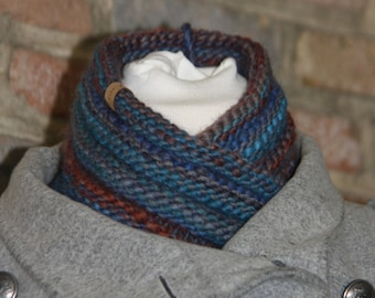 Moebius Cowl blue/brown