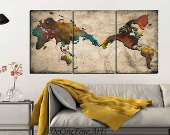 World map decor etsy michelangelos creation of adam inspired world map gumiabroncs Images