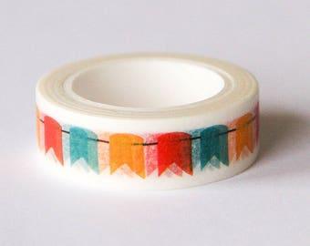 Washi tape - colored wreath pattern