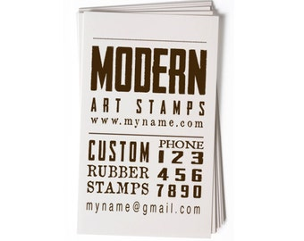 Business Card Stamp - Custom Stamp - Custom Rubber Stamp - Personalized Stamp - Vintage Stamp - Text Stamp - BC61