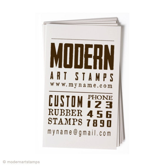Business card stamp custom stamp custom rubber stamp colourmoves