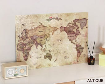 World map puzzle etsy world map jigsaw puzzle 1000 pieces antique pastel gumiabroncs Image collections