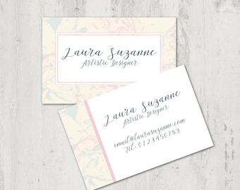 Marble Business Card Design- PDF business card. Printable