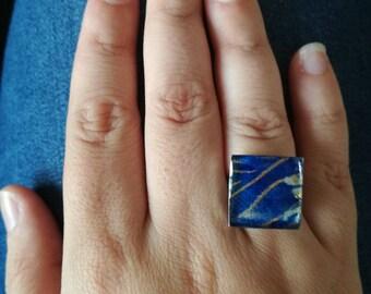 Square rings. 1.7 cm