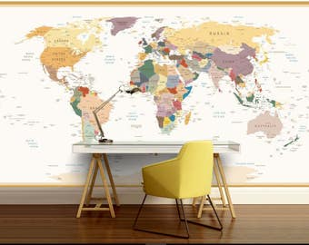 World map 3d mural old map wallpaper old map mural education world map vinly wall mural kids world map self adhesive vinly world map wall mural world map wall decal education kids map gumiabroncs Gallery