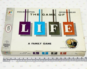 1960s The Game of Life, Vintage Milton Bradley Life Game, 60's Family Games, Collectible Game, Mid Century Games for Adults, Vintage Game
