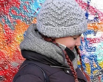 Hand knitted warm woolly hat