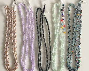 Beaded glasses chains (brown/lilac/black/mint/silver)