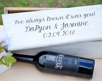 Ceremony Wine Box - Wedding Wine Box - First Fight Box - Personalized Wine Box - Wine Box Gift - Wine Box Ceremony - Anniversay Wine Box