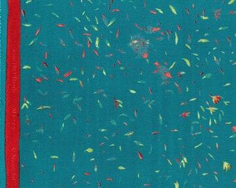 Nani IRO 2018 - Mercy C - Double Gauze Fabric - Japanese Fabric - Kokka Double Gauze - Tea Leaves in Teal