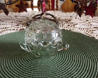 Vintage Anchor Hocking Glass Turtle