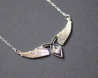 Angelic Rune with Wings Necklace Shadowhunters Mortal Instruments