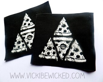 Pizza, Illuminati Black Fabric Patch