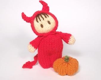 Little Devil Bitsy Baby Doll knitting Pattern