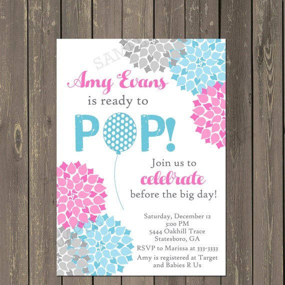 Ready to pop baby shower invitation about to pop shower filmwisefo
