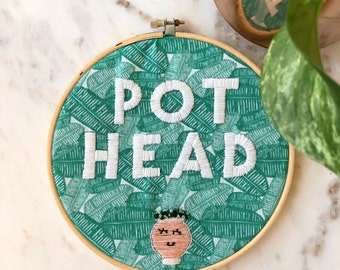 Pot head pun embroidery (complete)