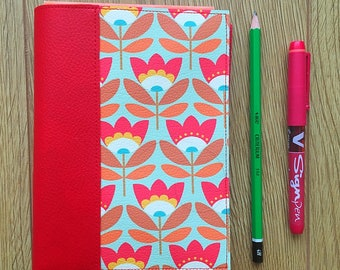 Red notebook with 60's