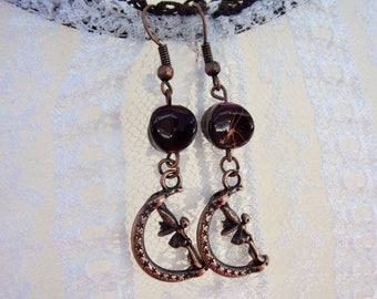 """Fancy """"Copper fairy"""" earrings"""