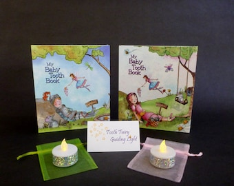 Tooth Fairy Baby Tooth Book Keepsake Gift Set