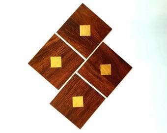 4 Thin wood coasters