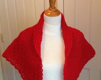 Red Crochet Shawl