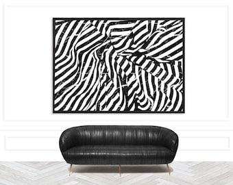 Chic Abstract Monochrome Art Print | Chic Minimalist Art Print | Modern Monochrome Print | Chic Monochrome Print | Stylish monochrome print