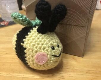 Crocheted Amigurumi Bumblebee