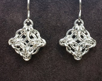 Byzantine Labyrinth Chainmail Earrings