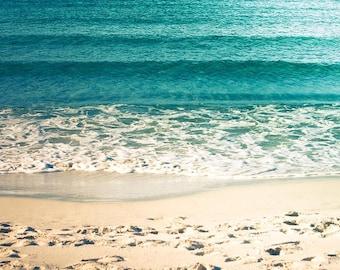 nautical decor beach photography fine art water ripples seashore print 8x10 8x12 nature photography ocean coastal decor teal art print wave